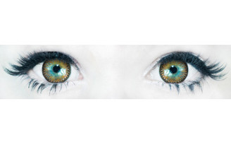 Comfortable, doll-eye Korean contact lenses in 3 Tone Nudy Brown by Sweety.