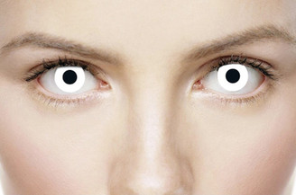 Crazy white out cosplay contacts
