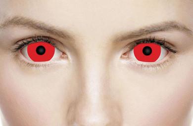 Crazy red mini sclera cosplay lenses