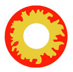 Crazy Flame red and yellow costume circle lenses