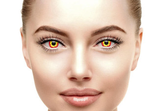 Crazy Flame special effects contact lenses