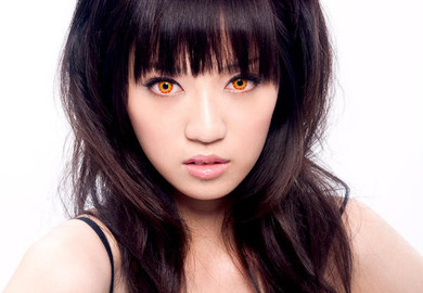 Cosplay circle lenses in Crazy Flame