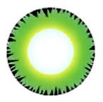Crazy Green Hulk cosplay contact lenses