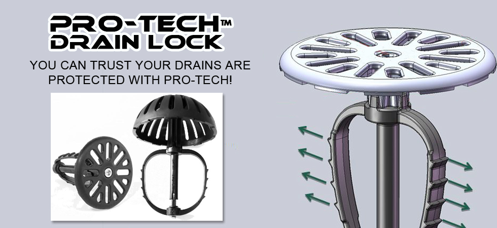 Pro-Tech Drain Lock for restaurants