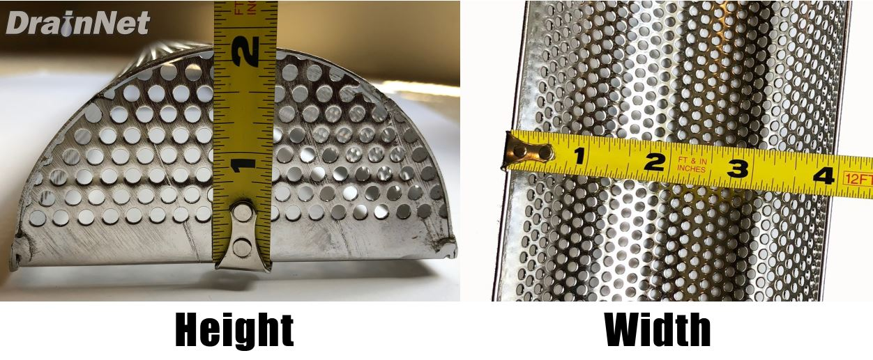 U Shaped Trench Drain Scrap Commercial Strainer Basket