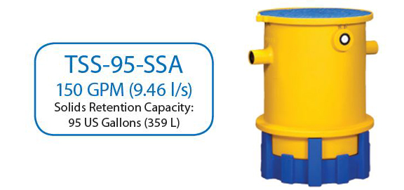 TSS-95-SSA Above Ground Trapzilla Solids Separator
