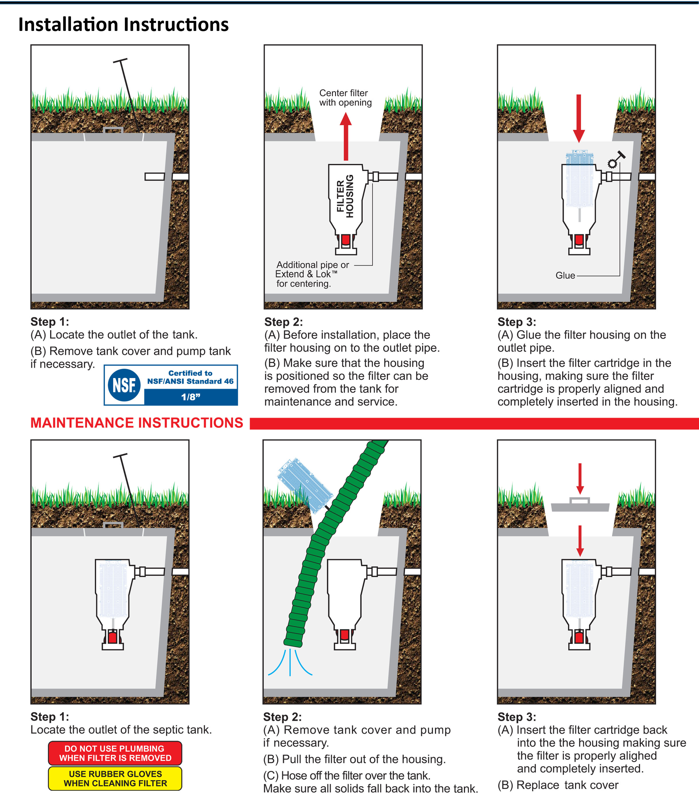 Freedom Filter Effluent filter for grease traps installation