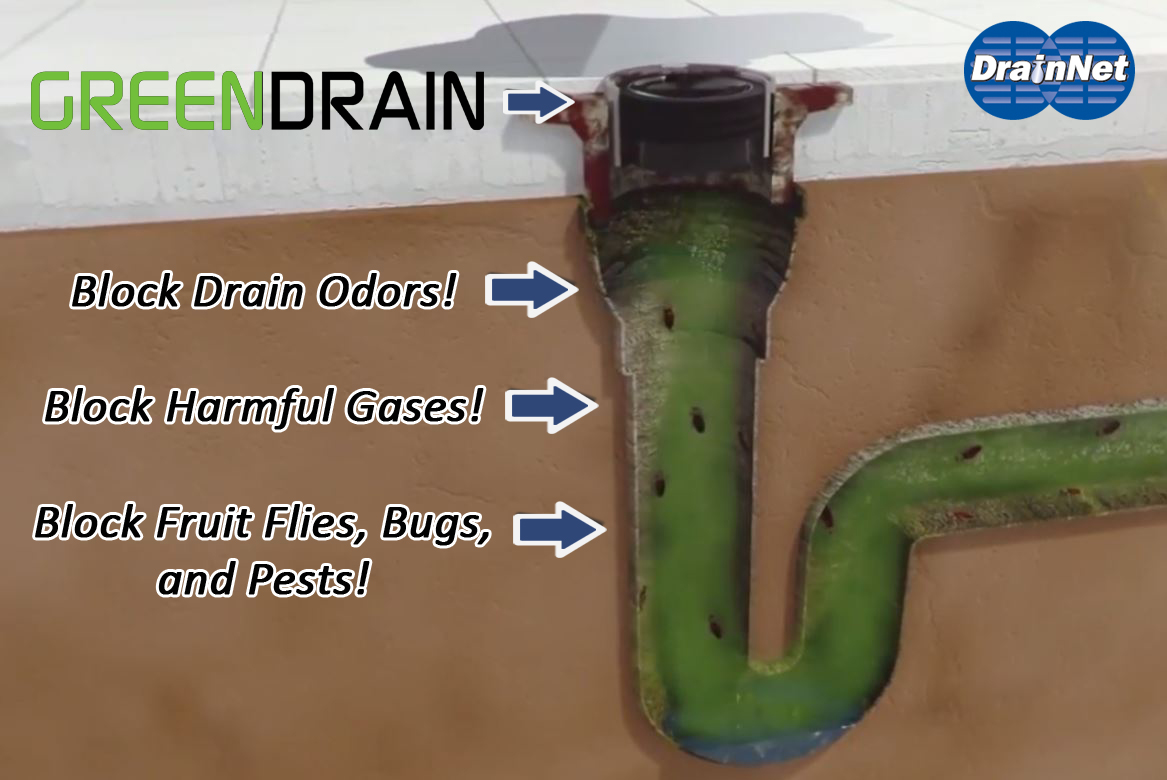 Green Drain Liquid Breaker for floor drain