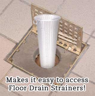 Hinged Floor Drain Grate with Drain Strainer