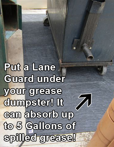 lane-guard-grease absorber