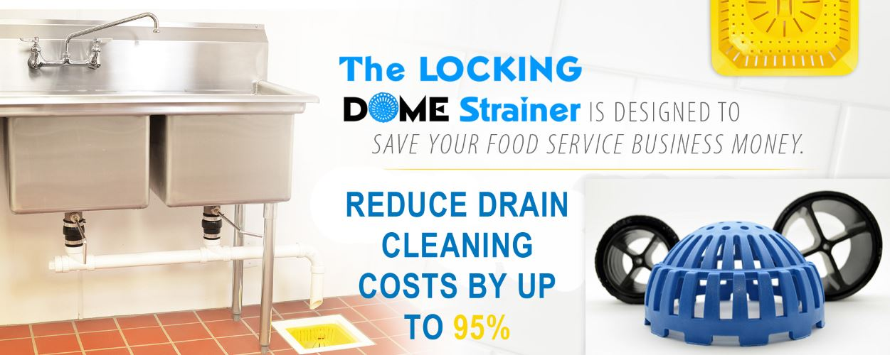Locking Dome Strainer For Restaurants Permadrain