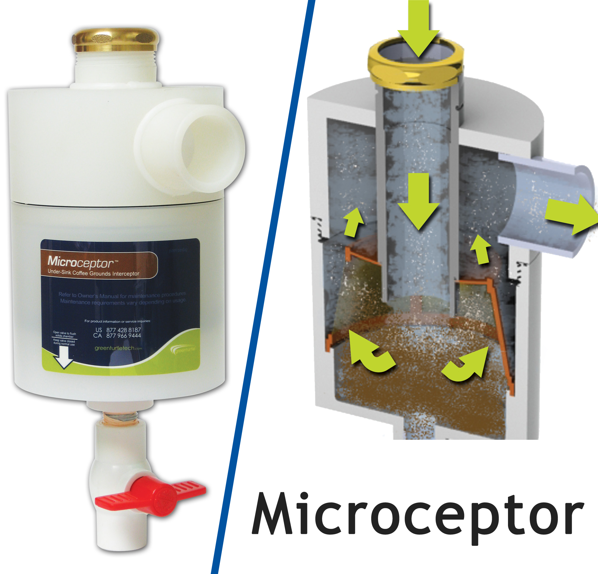 MICROCEPTOR - UNDER-SINK COFFEE GROUNDS INTERCEPTOR