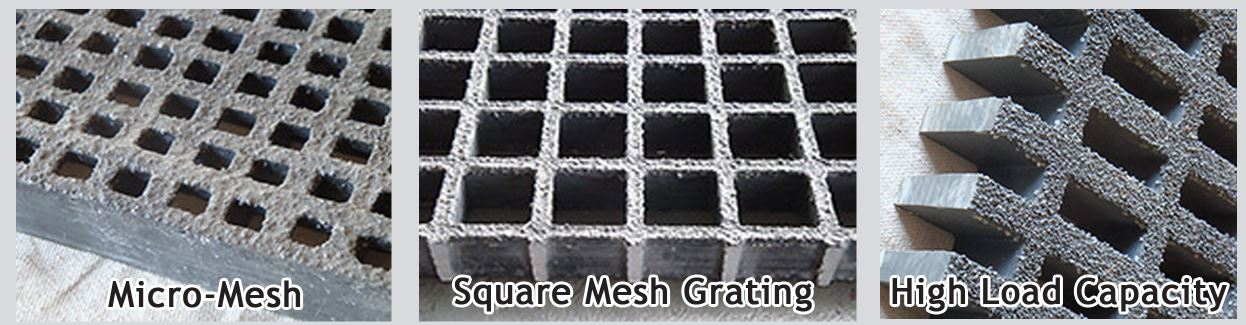 Fiberglass trench grate replacements