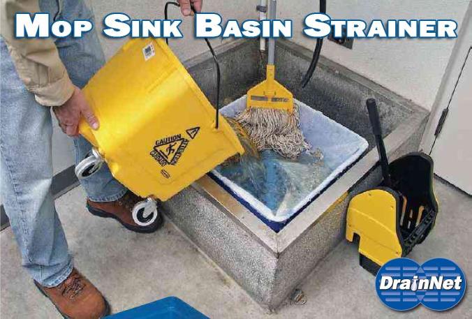 Commercial Mop Sink Basin Strainer w/ Filters - Drain-Net Technologies