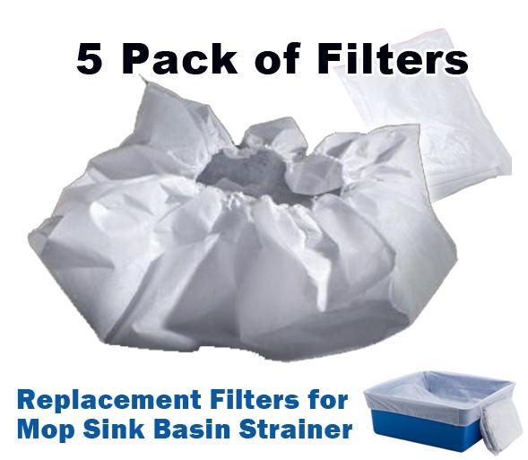 Filters For Mop Sink Basin Strainer (5 Pack)
