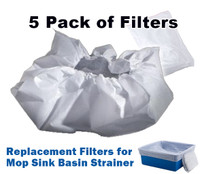Filters for Mop Sink Basin Strainer (5-pack)