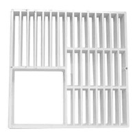 "Three Quarters - Floor Sink Grate - 9"" x 9"""
