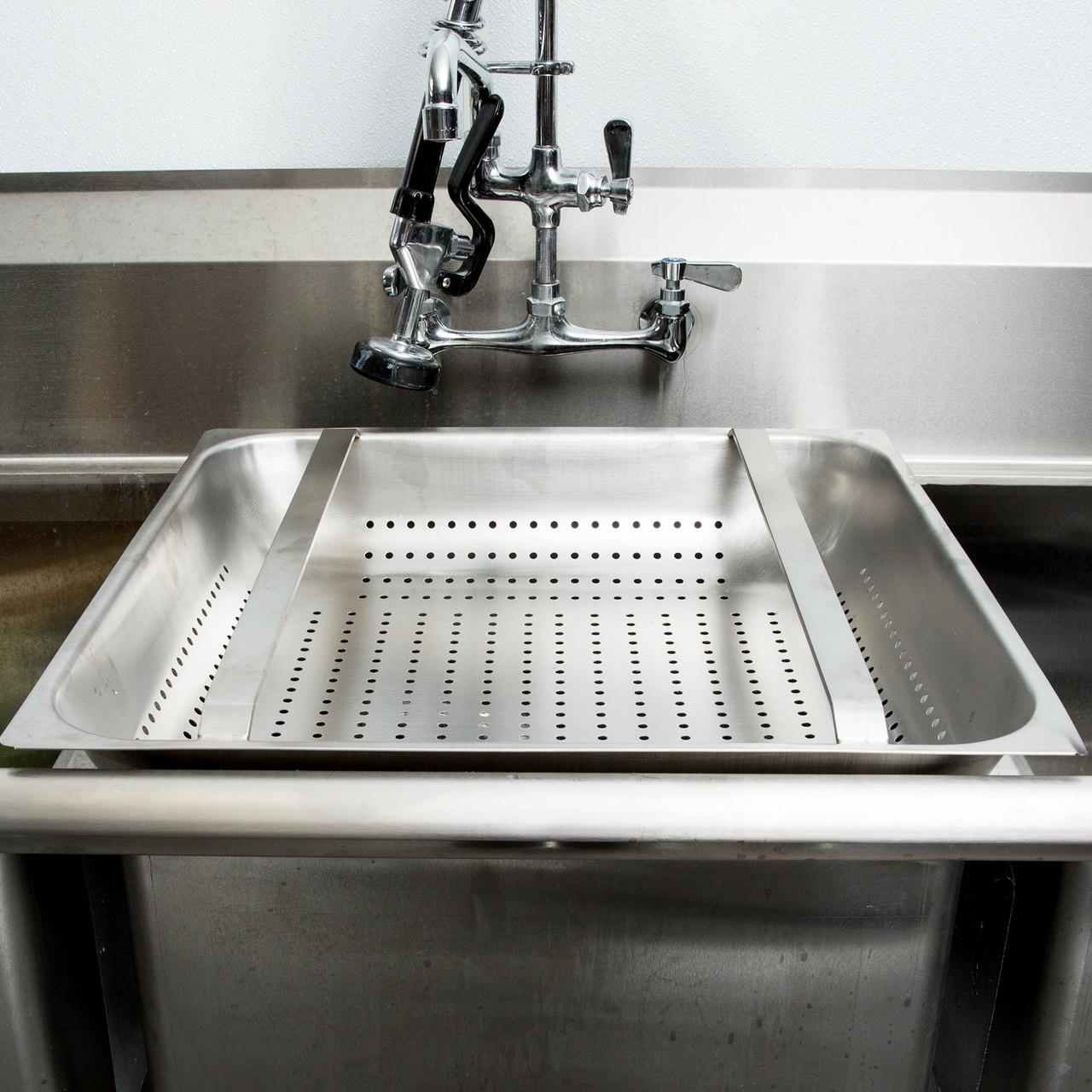 20 Quot Commercial Sink Pre Rinse Basket 4 Quot Deep Drain Net