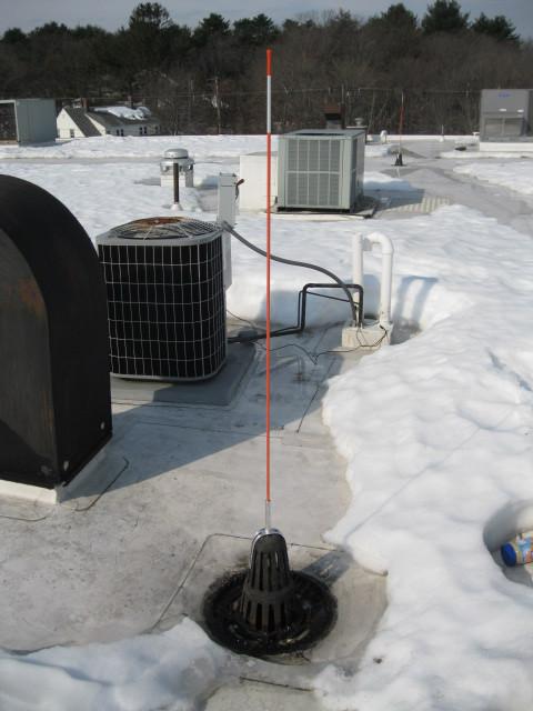 roof drain marker