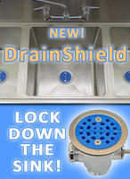 DrainShield Commercial Sink Strainer