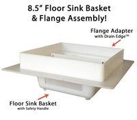 "8.5"" Floor Sink Basket & 12"" Flange Assembly with Drain Edge (TM)"