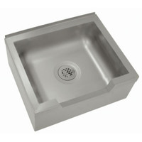 "Floor Mounted Mop Sink with Drop Front 25""W x 21""D x 16""H"