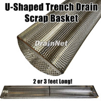 U-Shaped Trench Drain Liner Scrap Basket