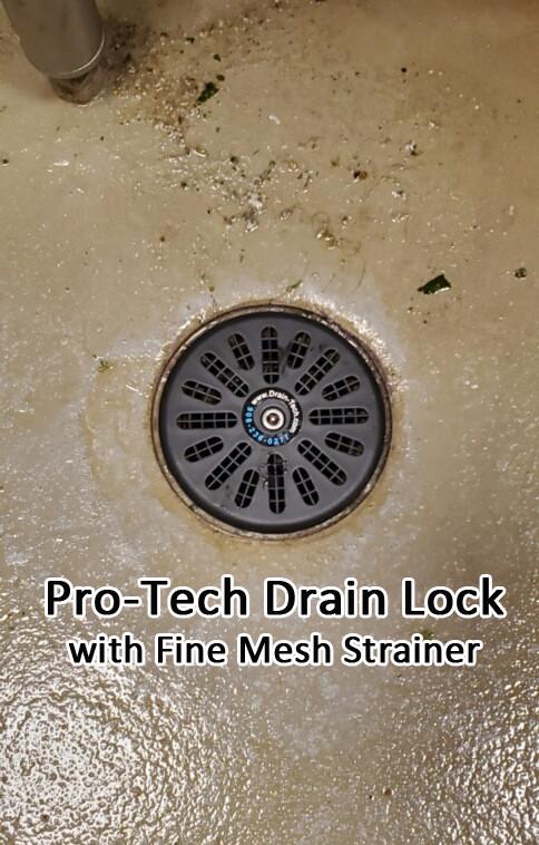 fine mesh drain lock floor strainer