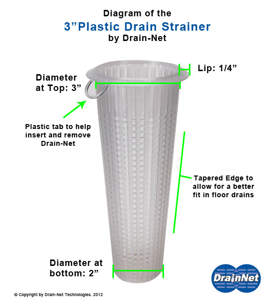 "Franklin Machine 102‑1155 ‑ 3"" OD Floor Drain Strainer"