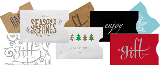 Plastic Card Holiday Sleeves