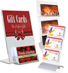 Acrylic Displays for Plastic Gift Cards