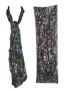 Vintage The Specialty House Inc Made In Japan Multicolor Metallic Lurex Multifunctional Scarf