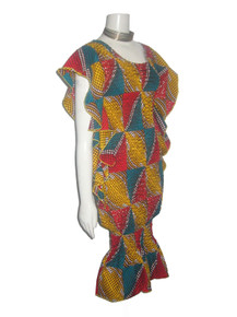 Multi-color African Print Bodycon Fitted Smocked Dress