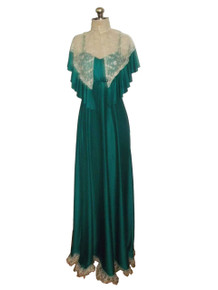 Empire Waist Lace Ruffle Tier Dress Cover-up Jacket Set