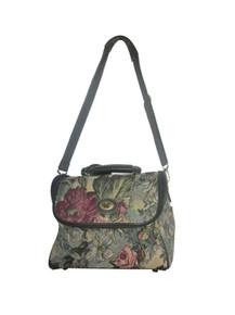 Vintage DVF Diane Von Furstenberg Multicolor Floral Leaf Tapestry Multifunctional Bag