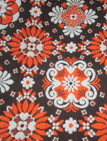 Vintage Multicolor Floral Pattern Reversible Heavy Fringe Blanket