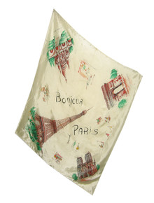 Vintage Large Bonjour Paris Eiffel Tower Paris Multifunctional Scarf