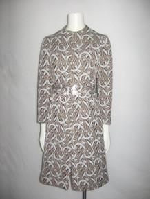 Vintage Belfry By Gerald Pierce Fancy Silver Buckle Belt Short Mini Mod Dress