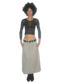 Vintage Designer Yohji Yamamoto Ys Small Houndstooth High Low Curved Hemline Long Wool Skirt