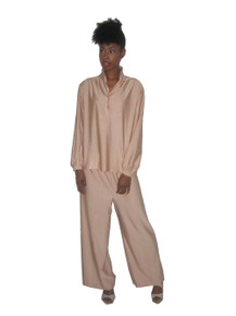 Vintage Ship 'n Shore 2Pc Tunic Blouse Wide Leg Pants Outfit