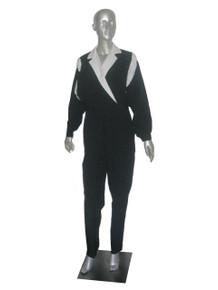 Vintage Eve's Geaves Black White Color Block Parachute Lightweight Jumpsuit