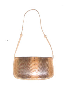 Vintage Genuine Snake Skin Leather Flap Closure Envelope Style Clutch Compartment Zipper Shoulder Strap Crossbody Handbag