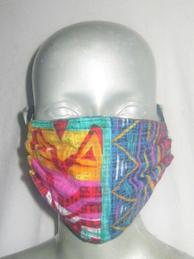 POYZA Made in USA Vibrant Multi-color Random Print Unisex One Size Cotton Washable Reusable Mouth Nose Face Mask