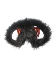 Vintage Rare Fur Hair Accessory Comb Clip