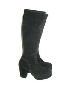 Vintage Rare High Platform Grunge Goth Punk Rock Mod Disco Go Go Suede Boots