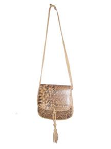 Vintage Genuine Reptile Skin Leather Flap closure Envelope Style Clutch Compartment Zipper Shoulder Strap Crossbody Handbag