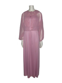 Vintage Pink Tie Waist Shrug w/ Matching Long Disco Dress