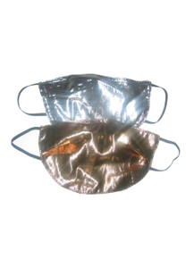 POYZA Made in USA Metallic Silver or Gold Lame Fashion Multi-functional Costume Washable Reusable Mouth Nose Face Mask