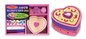 Wooden Heart Chest Decorate Your Own