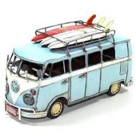 Light Blue VW Kombi with surfboards  31cm in length,